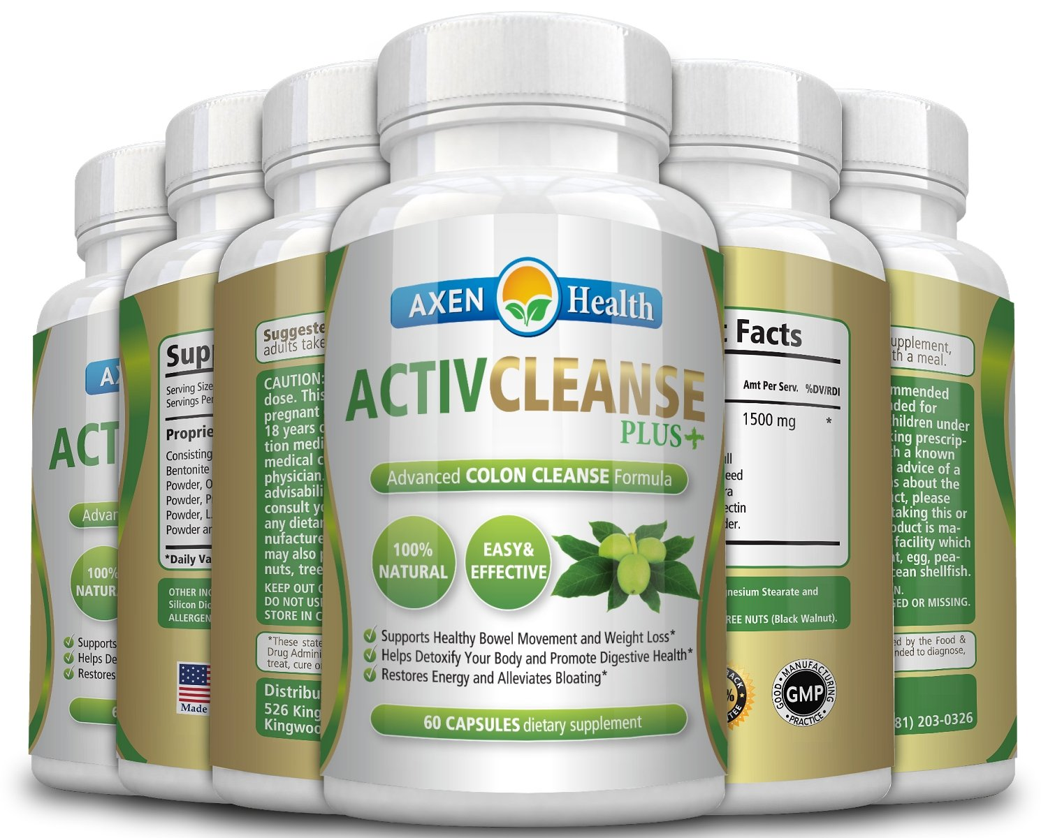 ActivCleanse Plus Advanced Colon Cleanse Formula (60 Capsules) - Lose Weight, Boost your Energy Levels, Improve Overall Digestive & Immune Health, and Just Feel Better Fast - (6 Pack)