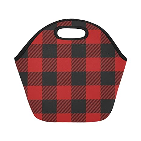 Amazon.com: Silly Meow personalizado bolsas de almuerzo rojo ...