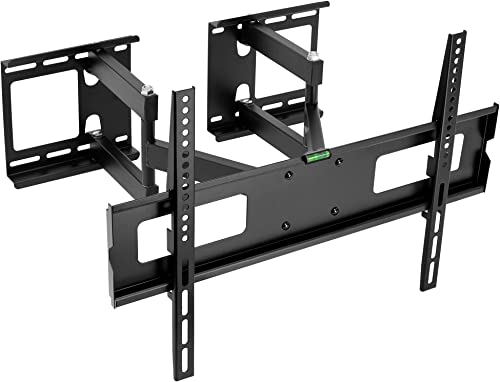 MOUNT-IT Corner TV Wall Mount 37 to 63 Displays 88 lbs Capacity Full Motion Articulating Mounting Bracket for Flat Screen, LCD, LED, OLED and Plasma TVs, VESA Compatible up to 600×400 Black