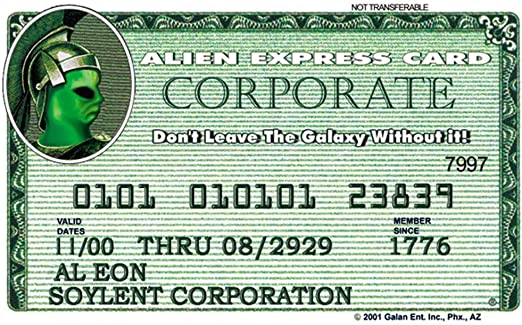 Signs 4 Fun Niidx Alien Expresss Drivers License