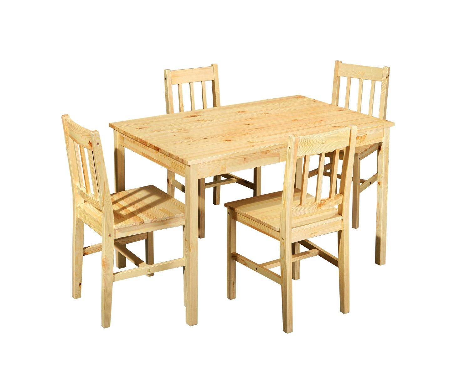Link 30500750 Tisch-Set Carola Kiefer massiv: Amazon.de: Küche ...