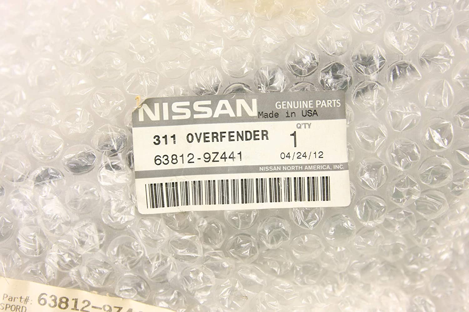 Genuine Nissan 63812-9Z441 Fender