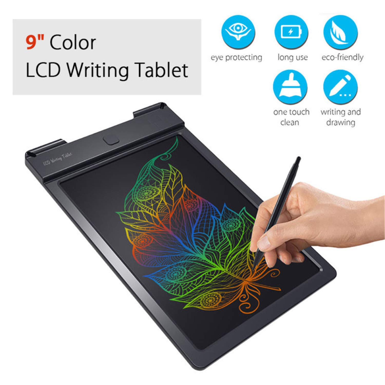 BABIFIS 9 Inch Color LCD Writing Tablet Handwriting Pads Darwing Board Rewritable for Kids Gift