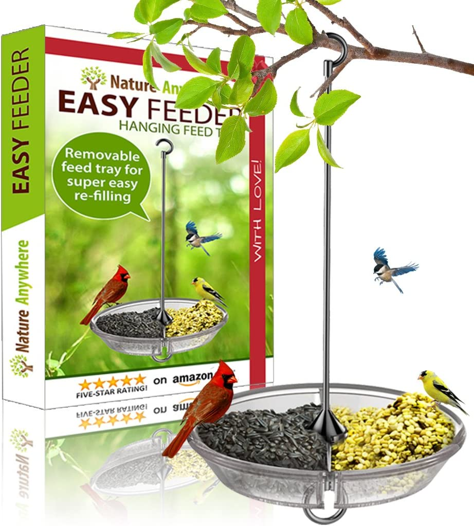 Nature Anywhere Large Hanging Bird Feeder 2020 Gift Edition with Unique Removable Dispenser, Unlimited Birdseed Air Circulation Plus Beautiful Packaging.