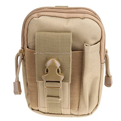 Broadroot Lot de sac de ceinture Outdoor Pouch avec fermeture à glissière petites poches 600d haute résistance en nylon Multicolore Sacs pour Caming Voyage randonnée