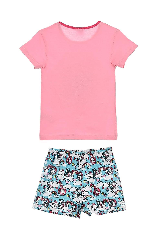Minnie Mouse Girls Childrens Unicorn Short Sleeve Pyjamas Set