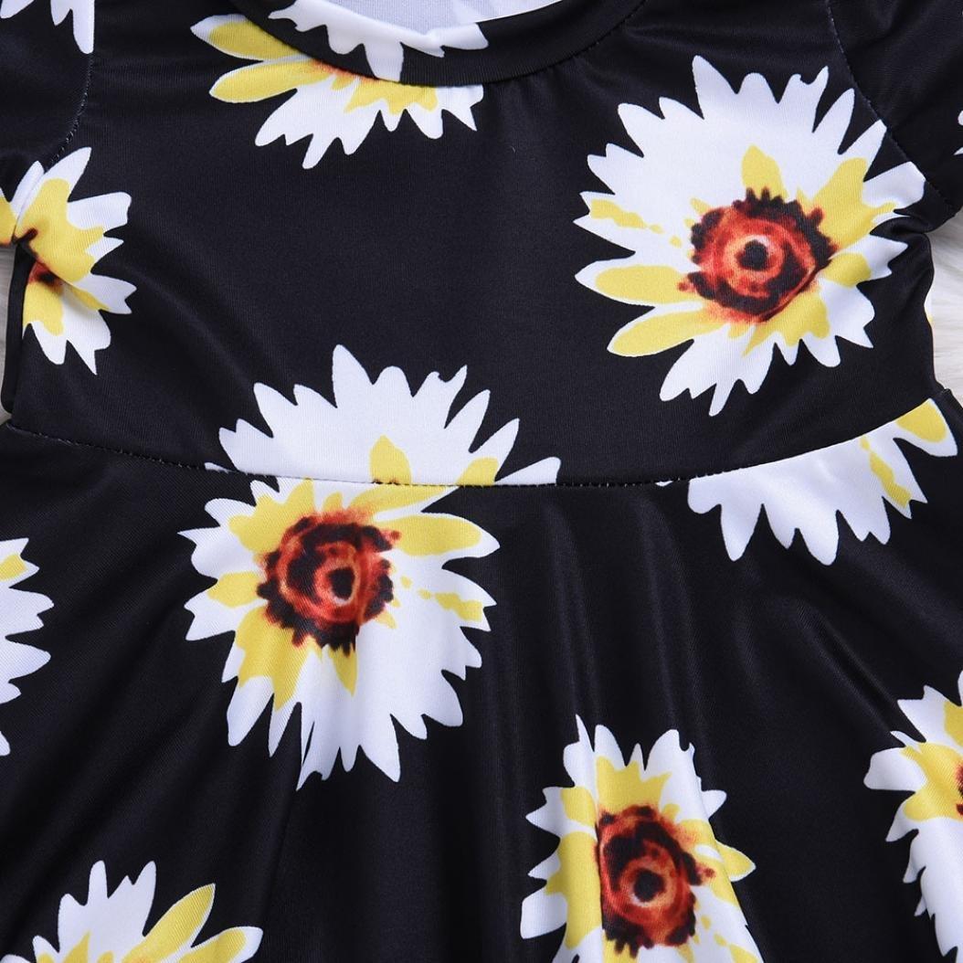 KONFA Toddler Baby Girls Floral Sundress Dress+Headband,for 0-24 Months,Little Princess Short Sleeve Skirt Clothes Set