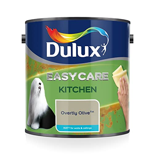 Overtly Olive Kitchen Paint: Dulux Easycare Kitchen Matt Paint, Overtly Olive, 2.5