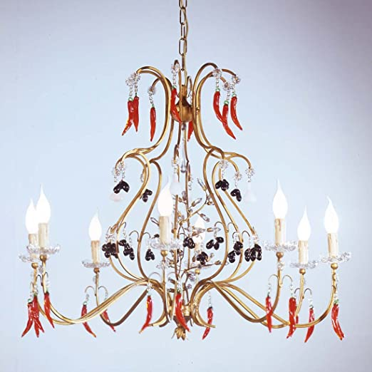 Tredici design murano glass crystal chandelier murano fruits in tredici design murano glass crystal chandelier murano fruits in bronze light hand made in italy aloadofball Gallery
