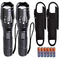 LED zaklamp Zoom met Holster Set / 2 stuks extreem helder 1000 lumen Cree Led T6 zaklampen kleine mini handlamp…