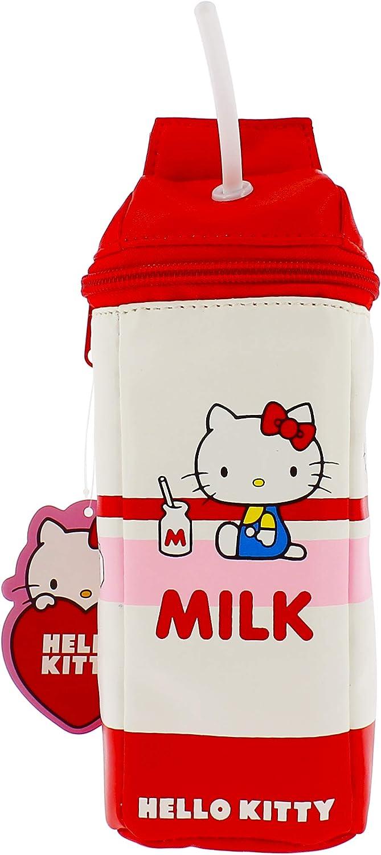 Hello Kitty Essential - Estuche para lápices | Caja de leche: Amazon.es: Oficina y papelería