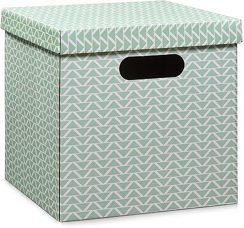 Zeller 17506 – Caja con Asas, cartón, Mint, 33,5 x 33 x 32 cm ...