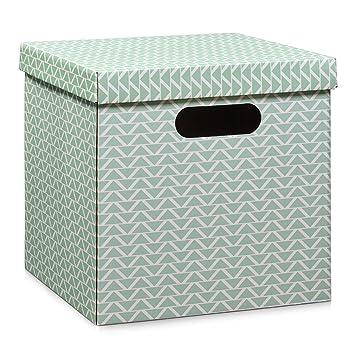 Zeller Boîte de Rangement, Carton, Menthe, 33,5 x 33 x 32 cm: Amazon ...