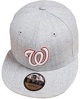 huge selection of e8b57 2e650 New Era Washington Nationals Heather Grey MLB Snapback Cap 9fifty Limited  Edition