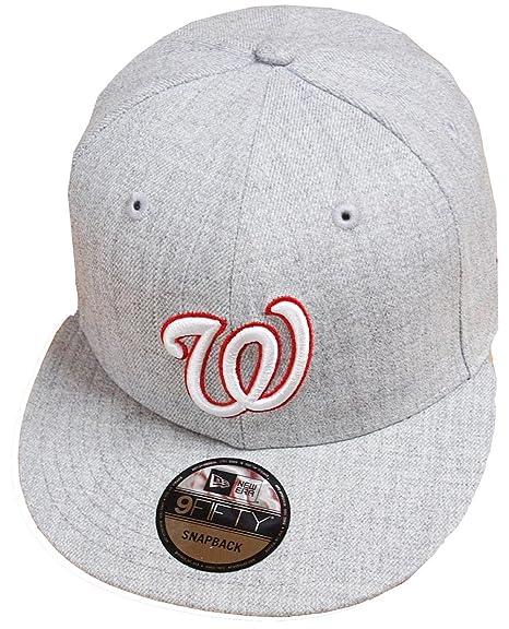 promo code f2165 42fb7 New Era Washington Nationals Heather Grey MLB Snapback Cap 9fifty Limited  Edition  Amazon.co.uk  Clothing