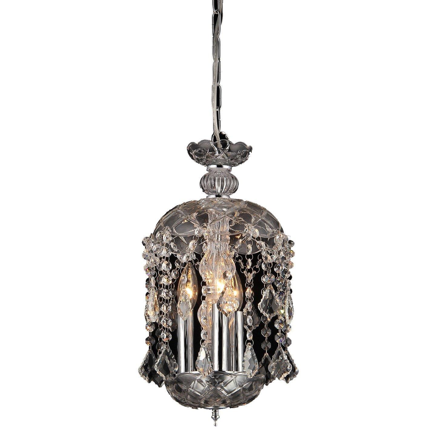 Warehouse of Tiffany RL8038C Karla 3-Light Clear Glass Crystal Chandelier, 11'' x 11'' x 20''