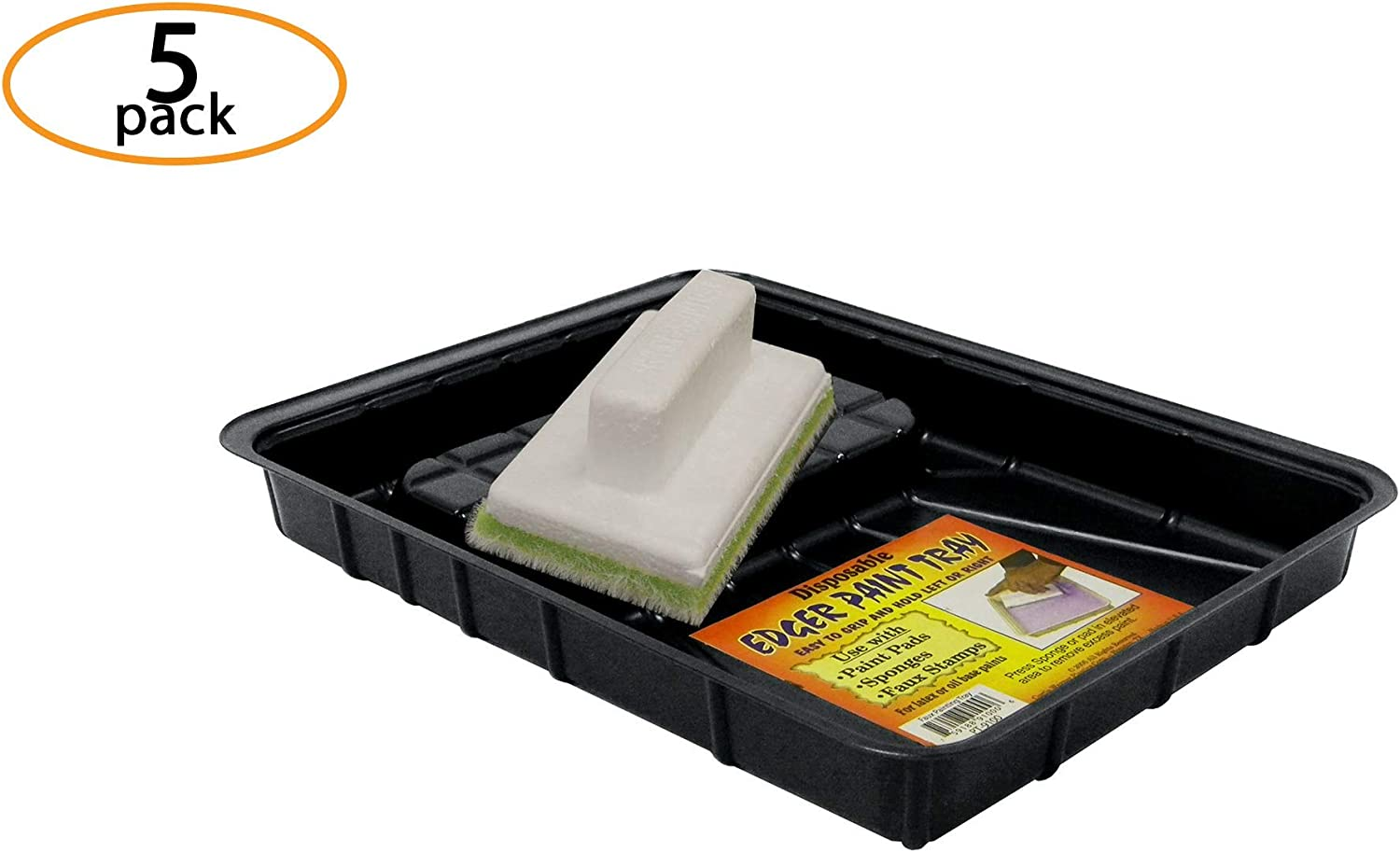 Dimensions: 9 x 7 - Heavy Duty Plastic Disposable /& Reusable Paint Tray Liner for Your Rollers /& Brushes 5-Pack Curtis Wagner Plastics Trim Paint Tray Large Small Medium Large Paint Trays Handy