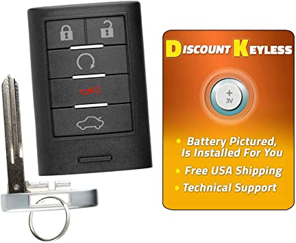 2 Replacement for Cadillac 2008-2013 CTS 2014 CTS Coupe Remote Car Fob Pull Key