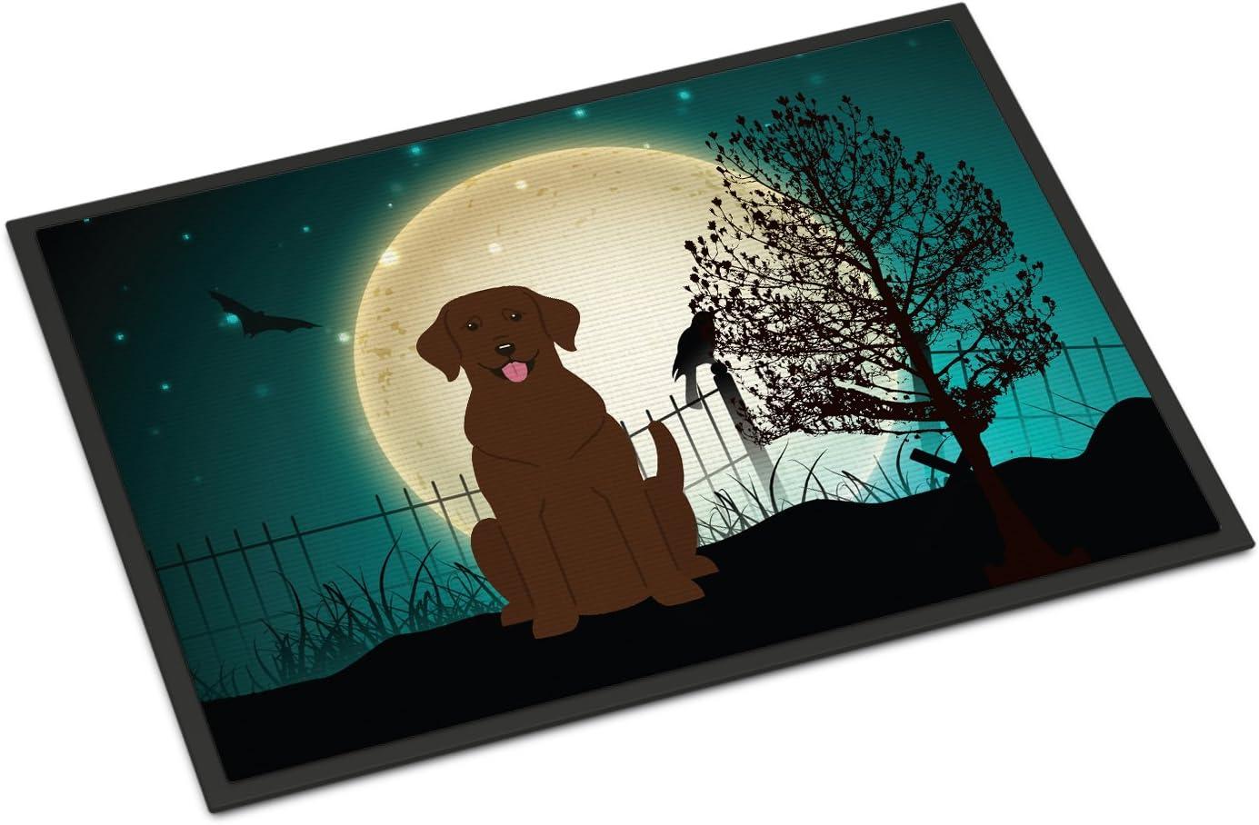 Caroline s Treasures BB2246MAT Halloween Scary Chocolate Labrador Indoor or Outdoor Mat 18×27, 18H X 27W, Multicolor
