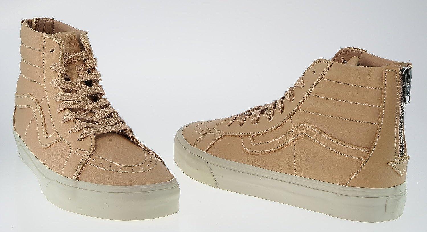 1ef3cd6909 Vans 443299 Sk8-Hi Reissue Zip Dx Veggie Tan Leather Tan Sample  Amazon.de   Schuhe   Handtaschen