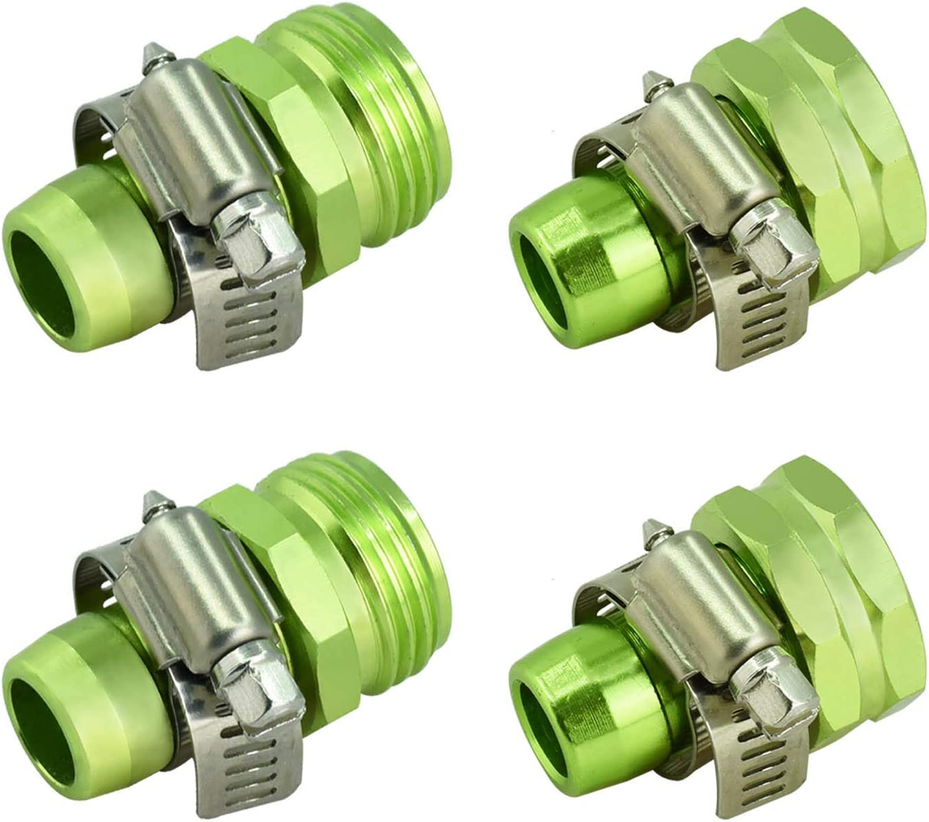 PLG Garden Hose Repair Connector with Clamps