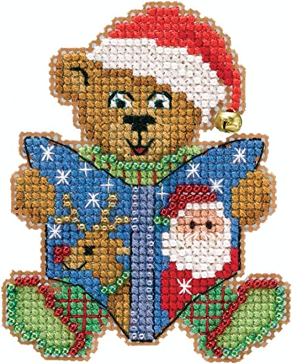 Cindy Cane Beaded Counted Cross Stitch Ornament Kit Mill Hill 2020 Mouse Trilogy MH192013