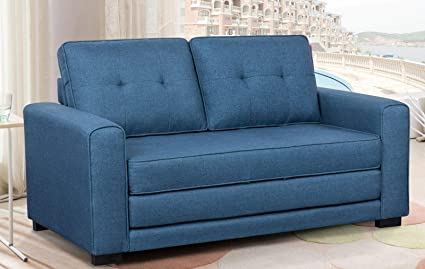 Amazon.com: Contemporary Sofa Loveseat - Modern Upholstered ...