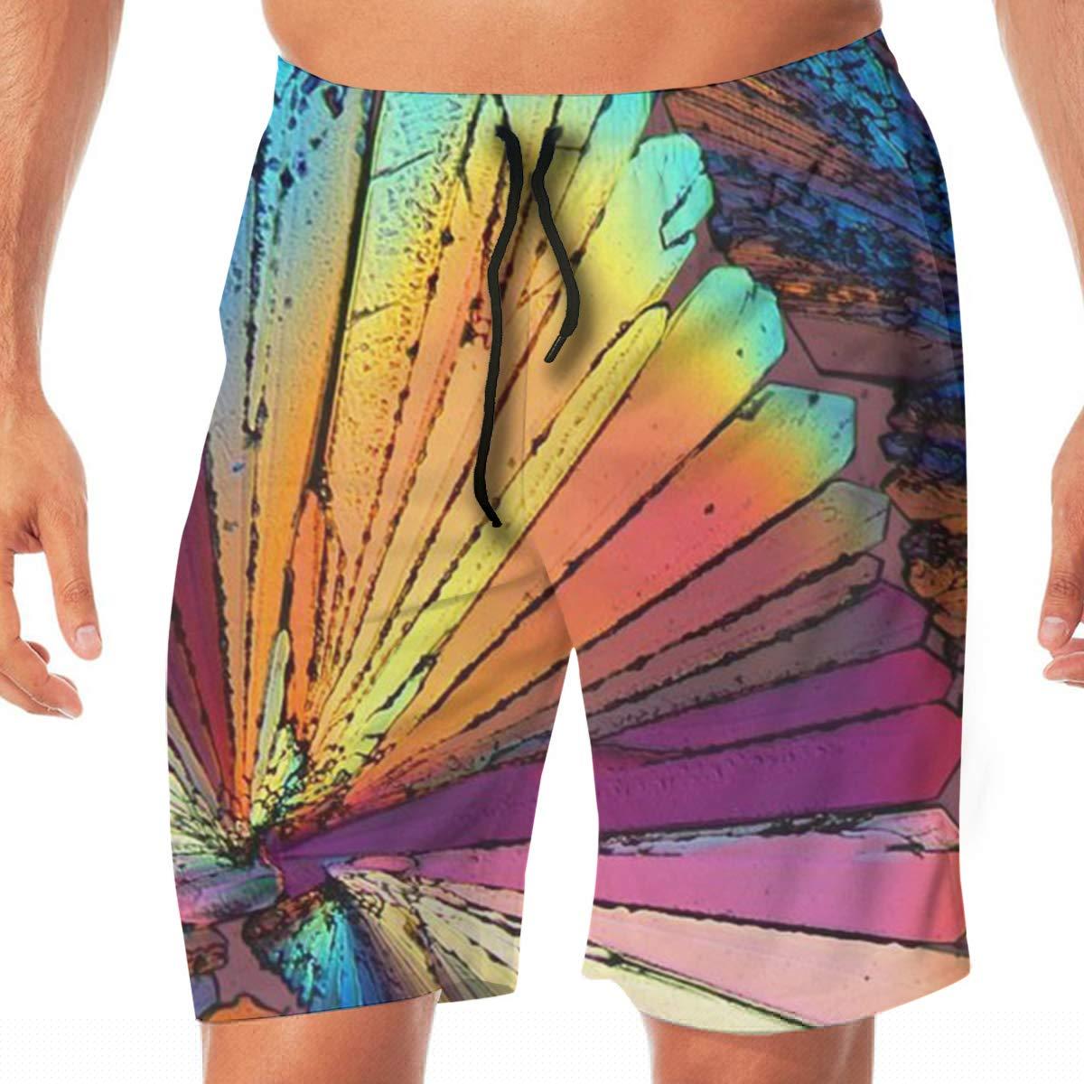 SEXTDSFD Colored Stones Mens Running Casual Short Beach Pants Swim Trunks Drawstring Board Shorts Swimwear