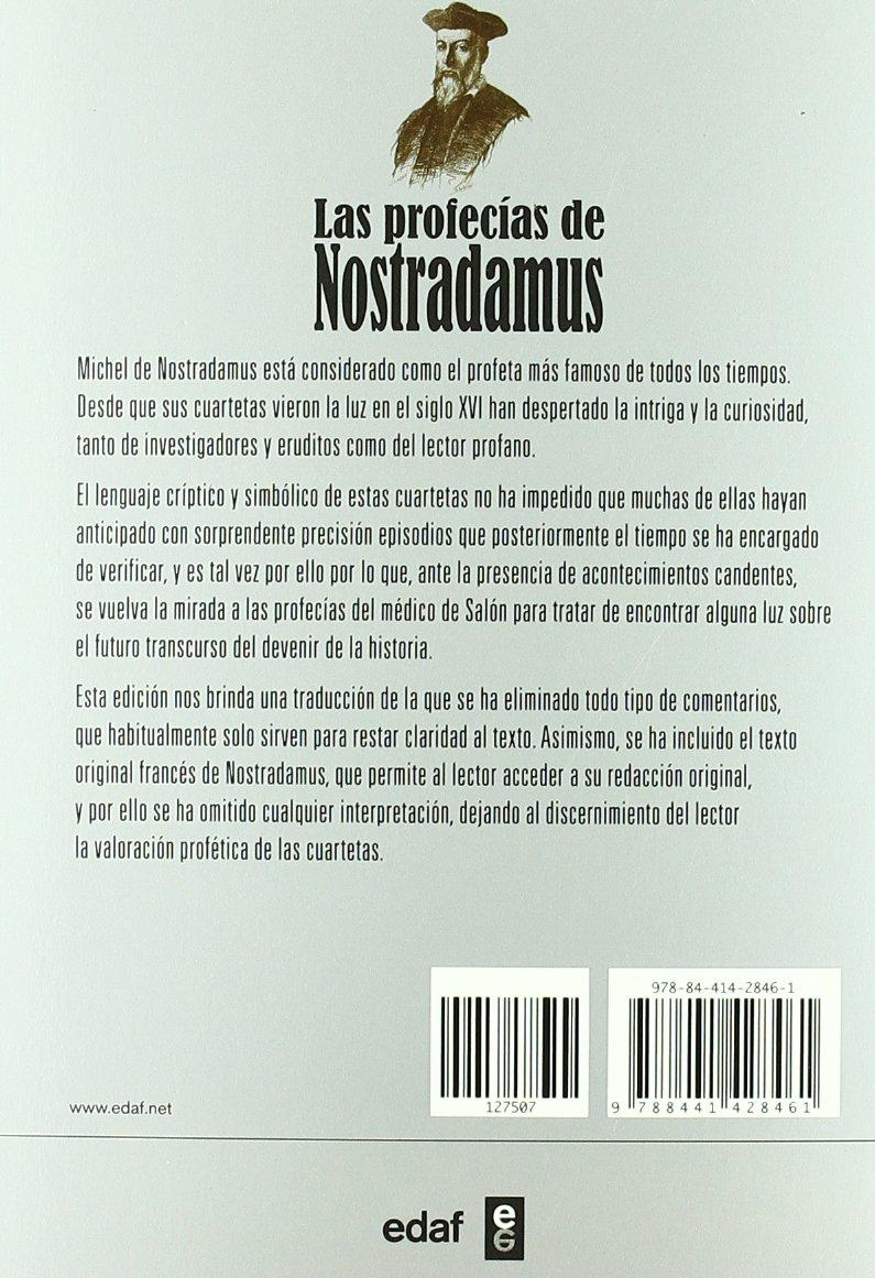Las Profecias De Nostradamus (Tabla de Esmeralda): Amazon.es: Michel de Nostradamus, Silvia Muñoz Calle: Libros