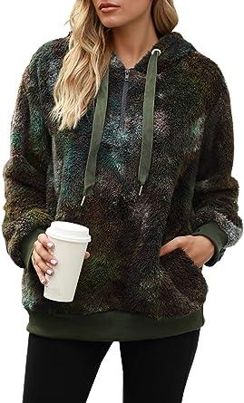 Oversized Sherpa Hoodie Fleece Hoodie Fluffy Sweaters for Women Winter Clothes Hoodies Pullover for Women Sweatshirts