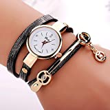 2016 Fashion Summer Style Women Leisure Leather Bracelet Wristwatch Dress Watches Relogios Femininos Black