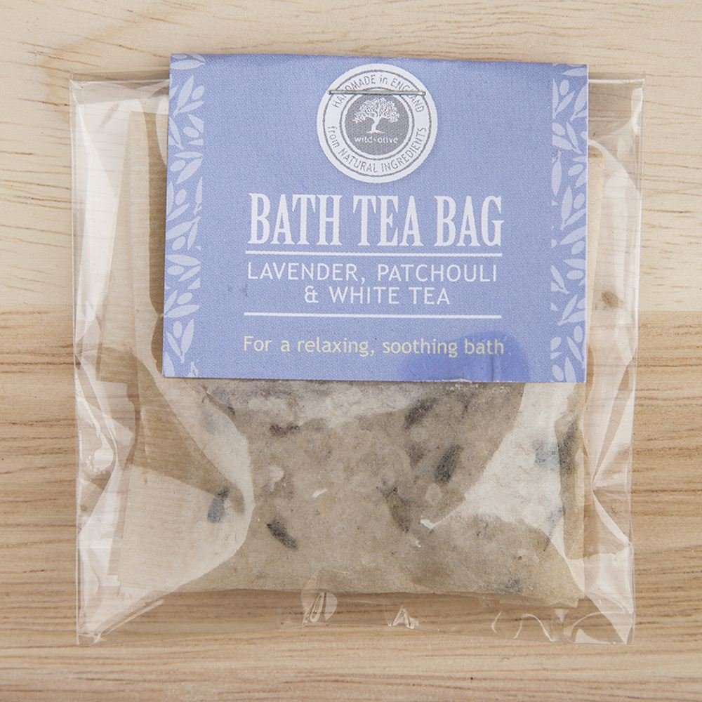 Bath Tea Bag (Lavender Patchouli and White Tea) Wild Olive