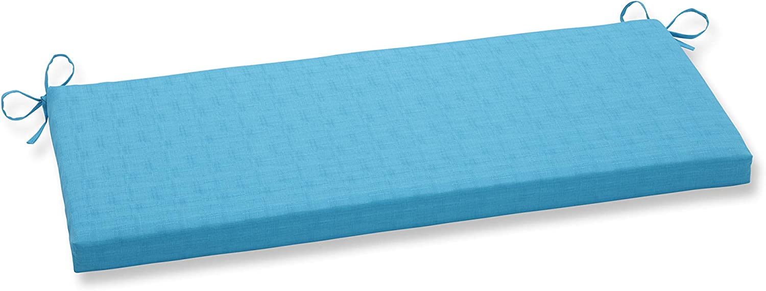 Pillow Perfect Outdoor Veranda Turquoise Bench Cushion