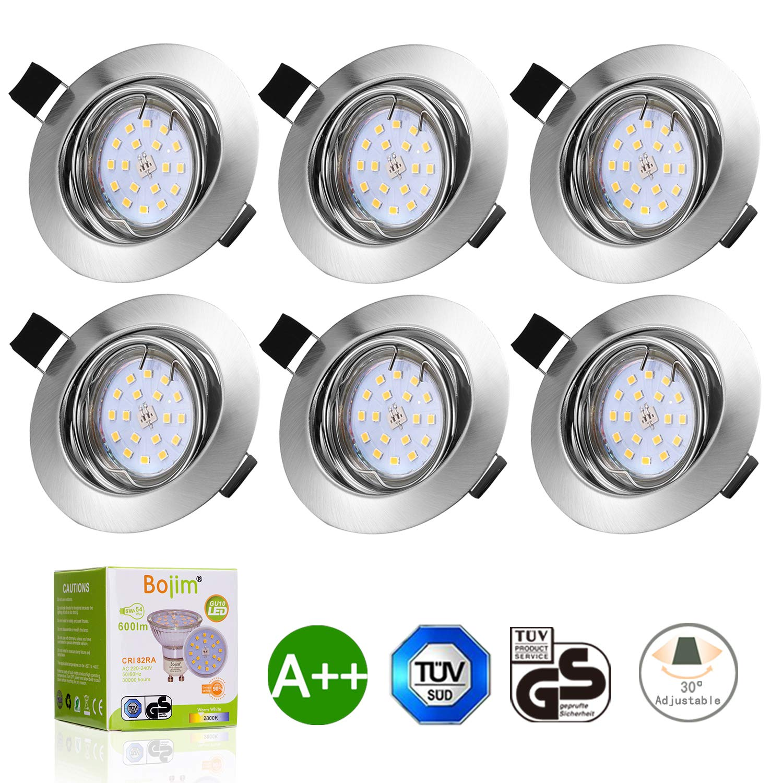 Bojim 6x LED GU10 Spot Lights Downlights Recessed Ceiling Lights ...