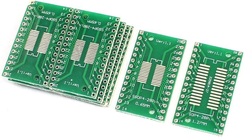 10pcs SOP28 SSOP28 0.65mm 1.27mm vers DIP28 2.54mm PCB Adaptateur Convertisseur