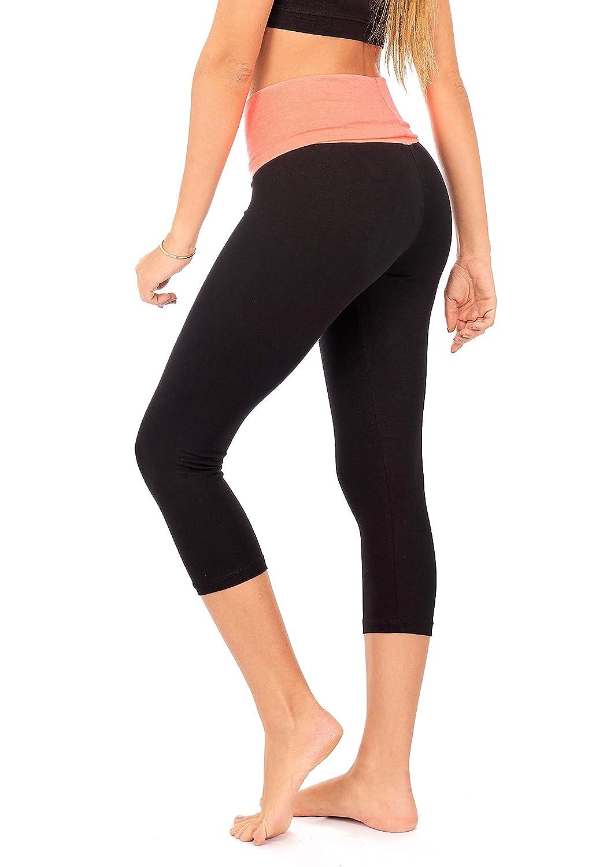 Plus Size DEAR SPARKLE Bootcut Leggings for Women Hidden Pocket C5 Slim Look Bootleg Opaque Yoga Pants
