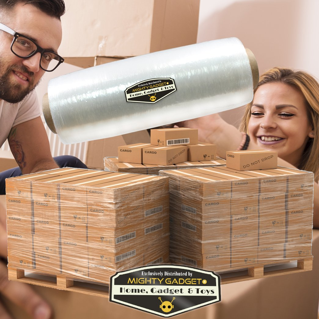 15 x 1476 ft Stretch Moving /& Packing Wrap 1 Pack of Mighty Gadget R Pre-Stretched Plastic Film Wrap