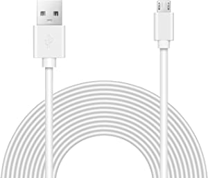 15ft Power Extension Cable for Wyze Camera, Oculus Go, Playstation Classic, Xbox360, and Cameras