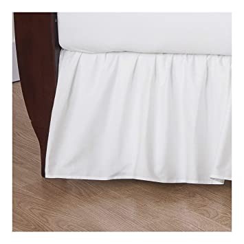 American Baby Company 100/% Natural Cotton Percale Ruffled Crib Skirt Soft Breathable for Boys and Girls White
