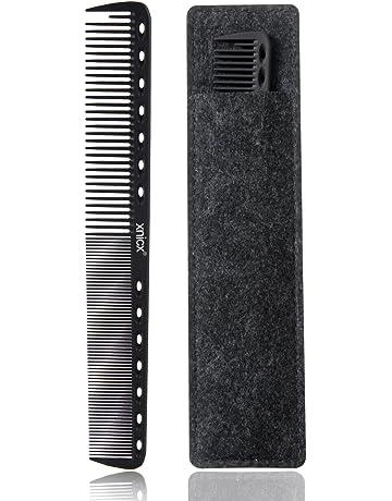 xnicx Negro carbono Peluquería Peine Pelo Peine 100% antiestático 230 ℃ Resistente al calor peine