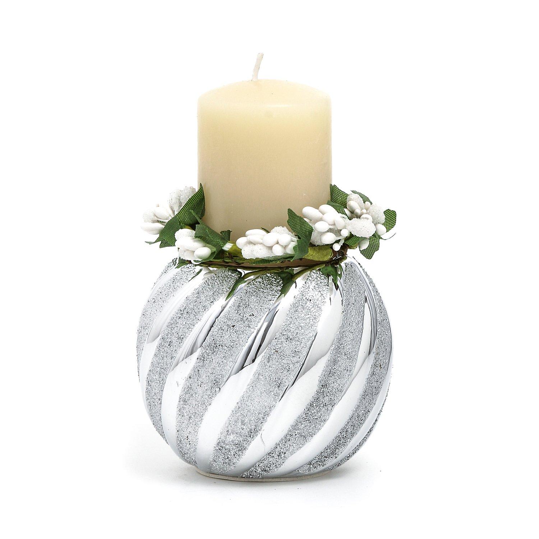Portacandela con candela KASANOVA