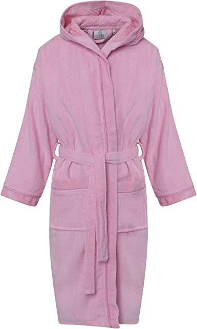 My Mix Trendz Boys Kids Pure 100/% Egyptian Cotton Nightgown Hooded Hood Bathrobe with Pockets