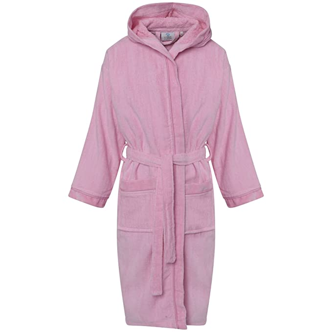 Kids Egyptian Cotton Bath Robe Boys Hooded Dressing Gown Girls ...