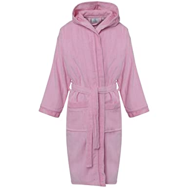 625774a85d Amazon.com  Kids Egyptian Cotton Bath Robe Boys Hooded Dressing Gown Girls  Lounge Wear  Clothing