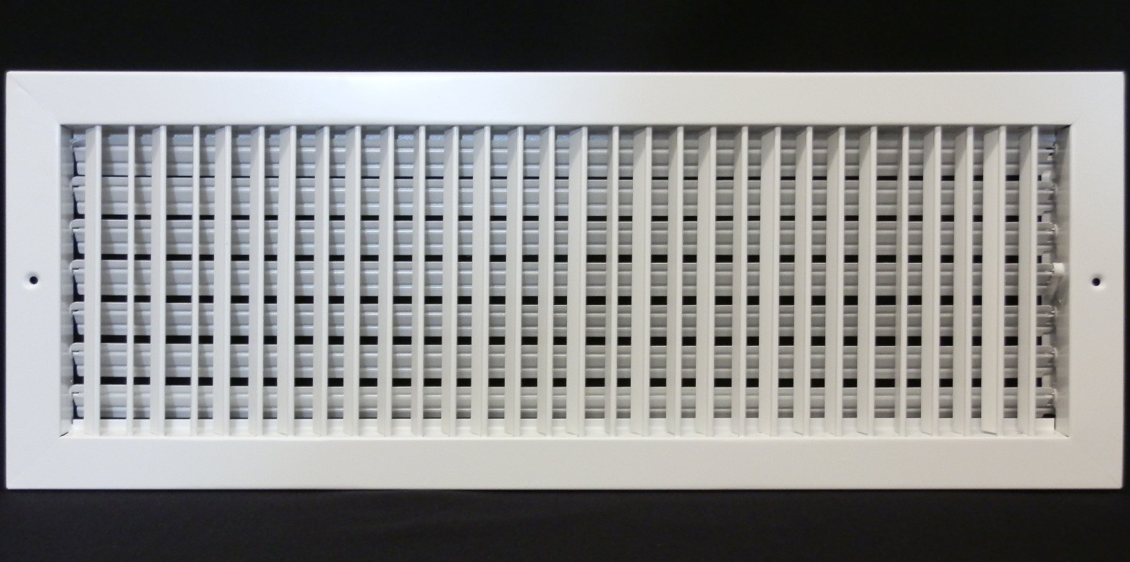 12'' x 4'' ADJUSTABLE DIFFUSER - Vent Duct Cover - Grille Register - Sidewall or Cieling - High Airflow