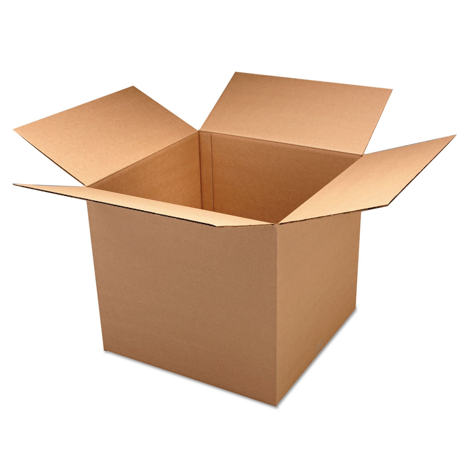 General Supply 101010DW Corrugated Kraft Double Wall Shipping Boxes, 10l x 10w x 10h, 15/BD