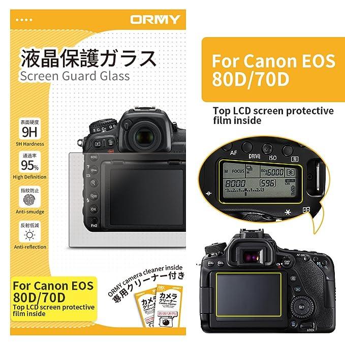 ORMY 0.3mm cámara Protector de pantalla para Canon EOS 80D / 70D ...