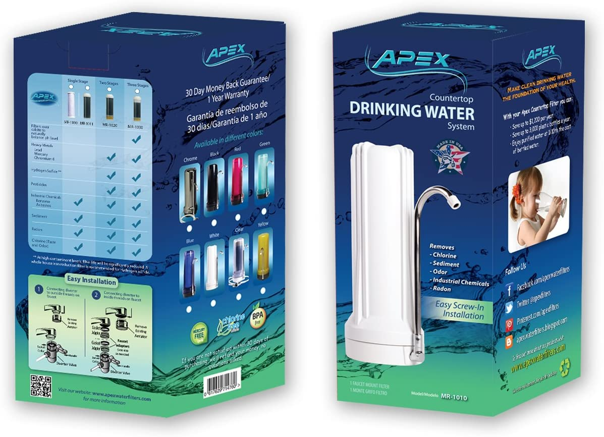 APEX MR-1010 Countertop Water Filter in box