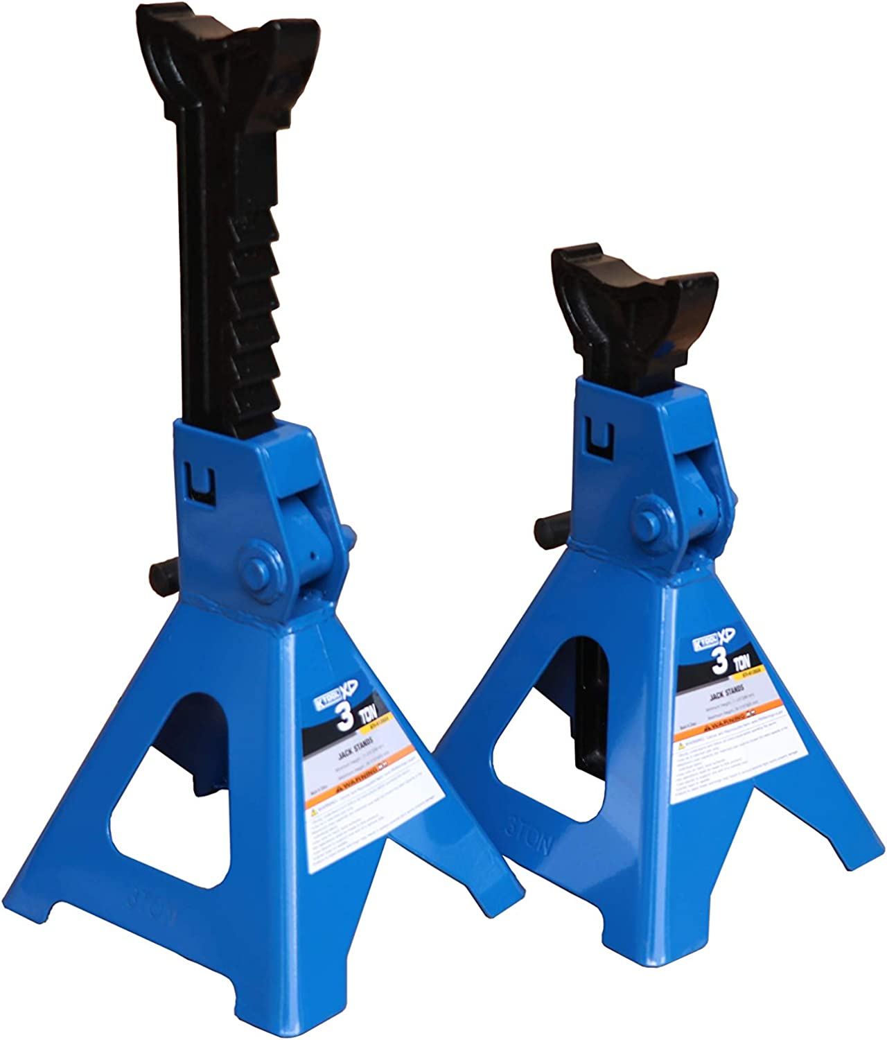 XD ; Height Ranges 11 2//5 to 16 7//10 Comes in Pair K Tool International 3 Ton Jack Stands Pair Total Weight 15 Pounds Covered by Two Year Warranty; KTI61202A