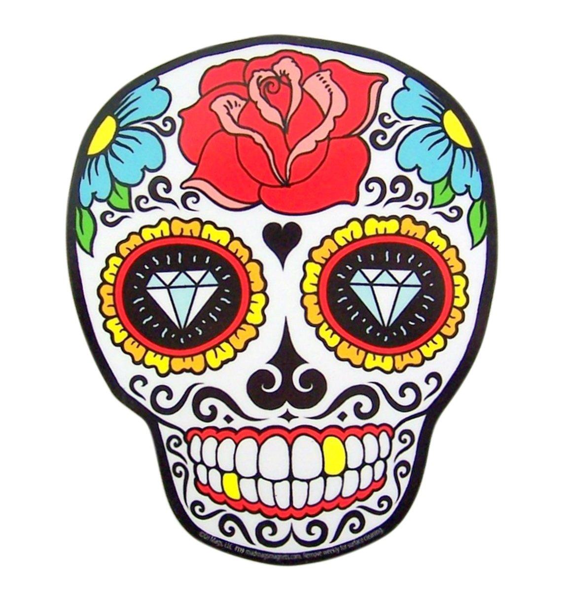 or Refrigerator Mad Mags Sugar Senorita Rose Skull Skeleton Magnet Decoration for Car Locker Office Whiteboard Senorita Rosa